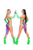 Dancers in stage costumes posing Stock Photos
