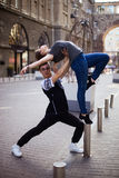 Dancers on the street stock photography