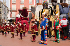 Dancers and tetines in Burgos Stock Images