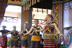 Dancers in traditional kadazan Dusun costume Royalty Free Stock Photos