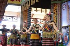 Dancers in traditional kadazan Dusun costume Royalty Free Stock Photos