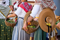 Dancers with traditional provencal costumes, provence Royalty Free Stock Image