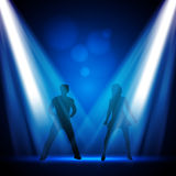 Dancers Vector Design. Young Dancers in the Club - Vector Design Royalty Free Stock Photos