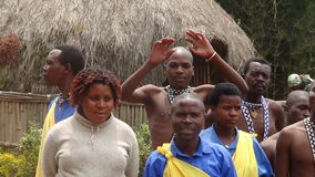 Dancers. Village dancers perform for visitors in Rwanda Stock Photography