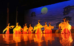 Dancers of the Xian Dance Troupe Stock Image