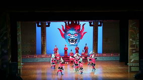 Dancers of the Xian Dance Troupe perform the famous Tang Dynasty show at the Xian Theatre, China