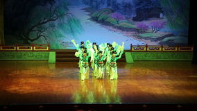 Dancers of the Xian Dance Troupe perform the famous Tang Dynasty show at the Xian Theatre, China stock footage