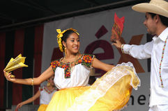 Folkloric dancers Royalty Free Stock Images