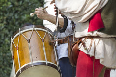 Dances and dances with drum and bagpipe Stock Images