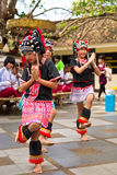 Dances of hill tribe Stock Image