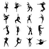Dances simple icons set Stock Image