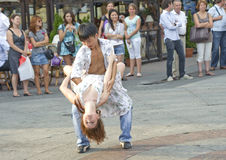 Dances in the street Stock Image