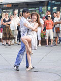 Dances in the street Stock Photography
