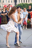 Dances in the street Stock Images