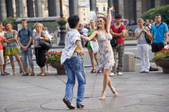 Dances in the street Stock Photo