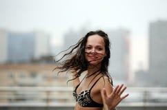 Dances under a rain Stock Photos