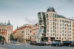 Dancig House, Ginger and Fred - Prague royalty free stock photography