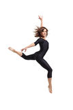 Dancing. Modern dancers poses in front of the white background Stock Photography