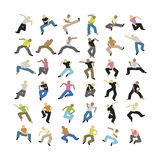 Dancing. A set of some dancing vector people Stock Photos