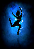 Dancing. Silhouette illustration of a woman figure dancing Stock Image