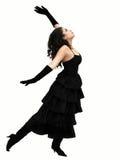 Dancing. Dramatic dancer Stock Images