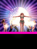 Dancing 3d people Royalty Free Stock Images