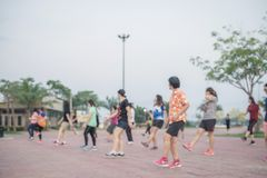 Dancing aerobics Exercise royalty free stock photography