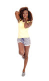 Dancing African woman. Royalty Free Stock Photography