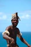 Dancing africano dell'uomo Immagini Stock Libere da Diritti