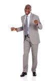 Dancing africano dell'uomo d'affari Immagine Stock Libera da Diritti