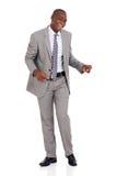 Dancing afroamericano dell'uomo d'affari Fotografia Stock Libera da Diritti