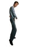 Dancing alto dell'uomo Fotografie Stock Libere da Diritti