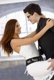 Dancing amoroso delle coppie Immagine Stock