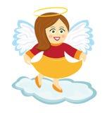 Dancing angel. Happy angel dancing on a cloud Stock Photos
