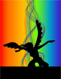 Dancing Angel. Illustrations vector of retro Dancing Angel Royalty Free Stock Photo
