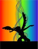 Dancing Angel. Illustrations vector of retro Dancing Angel royalty free illustration