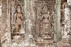 Dancing Apsara, Angkor Wat, Cambodia Royalty Free Stock Photo