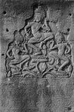 Dancing apsara devas Stock Image