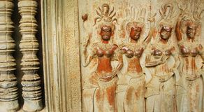 Dancing Apsaras Royalty Free Stock Photography
