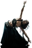 Dancing arabo del ballerino di pancia della donna Fotografia Stock Libera da Diritti