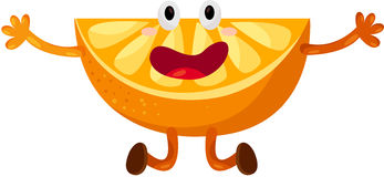 Dancing arancio del fumetto Fotografia Stock