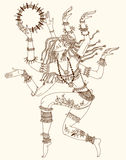 Dancing-armed goddess. Stock Image
