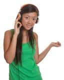 Dancing asian girl Stock Photos