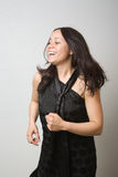 Dancing Asian woman Royalty Free Stock Photos