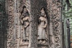 Dancing Asparas,Angkor Royalty Free Stock Photography