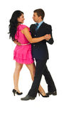 Dancing attractive couple Royalty Free Stock Image