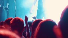 Dancing audience stock video