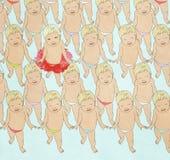 Dancing babies Stock Image