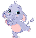 Dancing baby elephant stock illustration