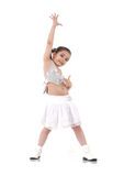 Dancing baby girl. Young girl dancing jazz modern dance royalty free stock photos